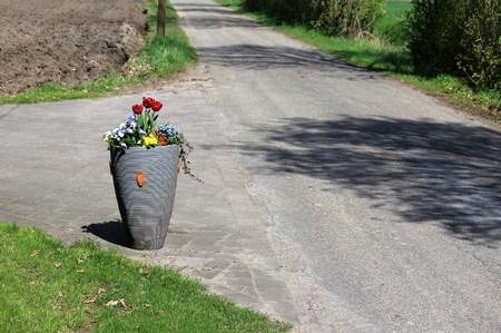 Big vase on the street