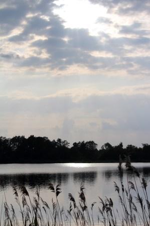 Abensonne at the lake Reklamní fotografie