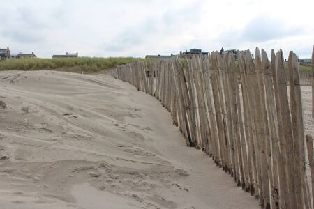 Wooden fence on the coast