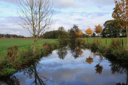 Beautiful river landscape in North Rhine-Westphalia Standard-Bild