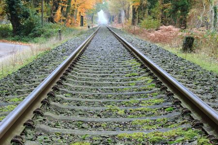 Railway line in the infinity