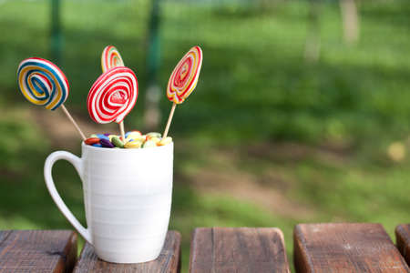 obesity kids: lollipops Stock Photo