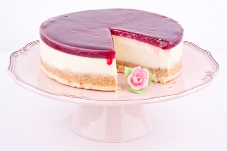 raspberry cheesecake Stock Photo - 17395261