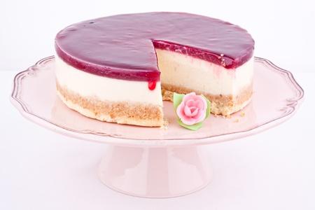 raspberry cheesecake Stock Photo - 17395261