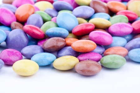 obesidad infantil: grageas de chocolate, grageas