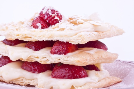 mille: mille feuille of strawberry