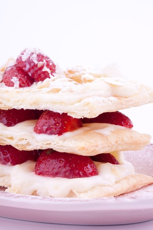 mille feuille of strawberry photo