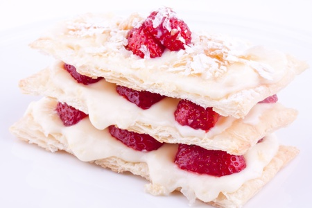 mille feuille of strawberry