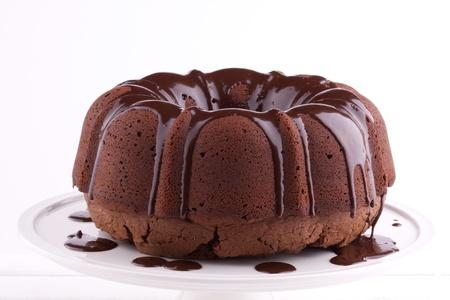 pound cake: chocolate cake with sauce
