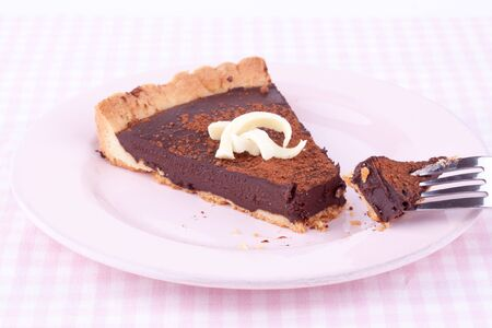 chocolate tart: tarta de chocolate