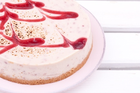 raspberry cheesecake photo