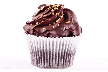 cupcakes isolated: chocolate cupcake