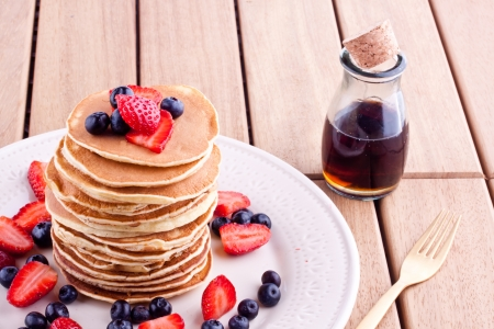 stack of pancakes photo