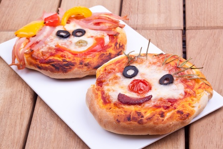 mini pizza: mini pizza Stock Photo