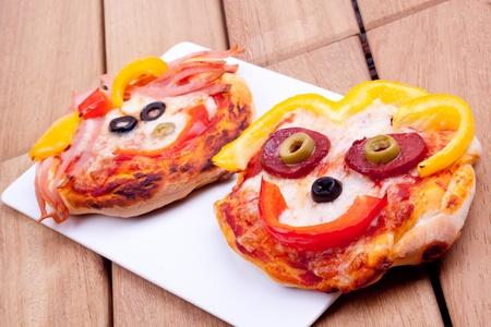mini pizza: mini pizza Stock Photo