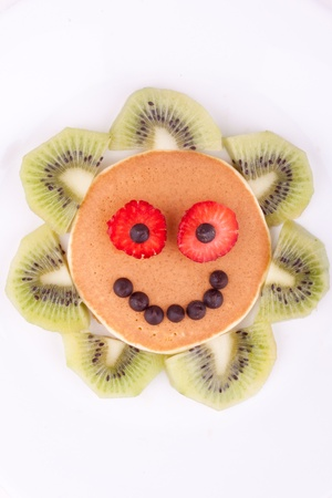 face on pancake photo