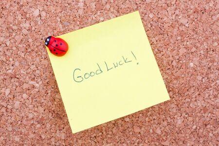 postit: good luck writing