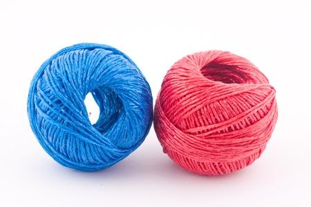 hilo rojo: hilo azul y rojo