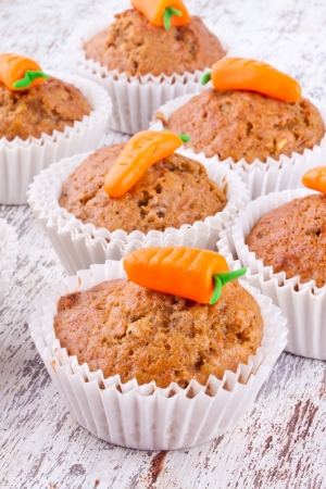 carrot muffin Stock Photo