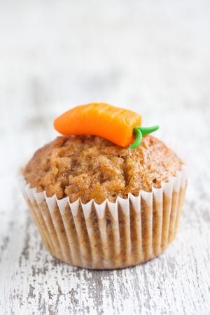 zanahorias: muffin de zanahoria Foto de archivo