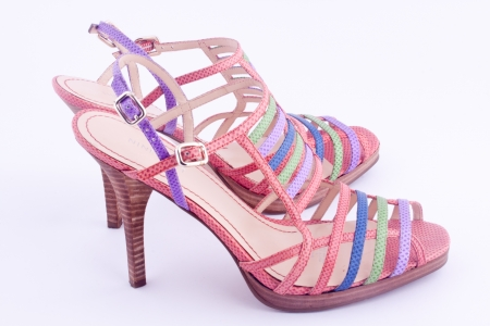 stilletto: a pair of high heel shoes Stock Photo