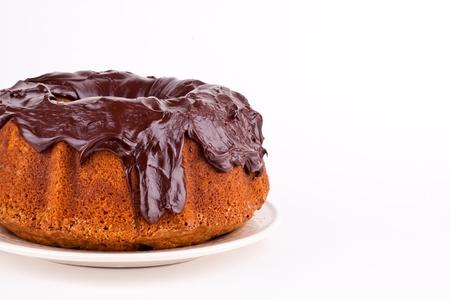 cake with chocolate sauce photo