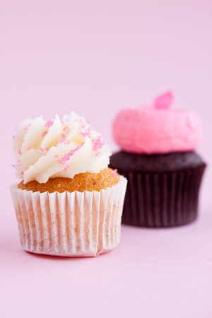 butter icing: cupcakes Stock Photo