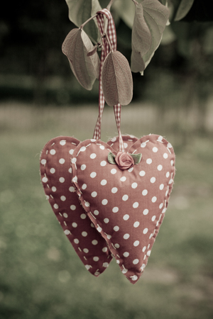hanging heart cloth