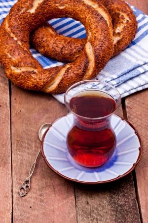 tea and turkish bagel