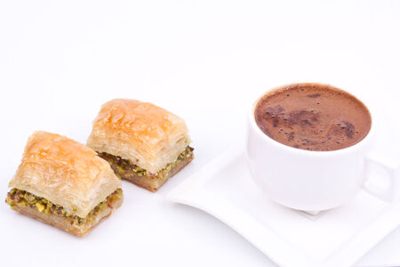 east espresso: baklava and turkish coffee