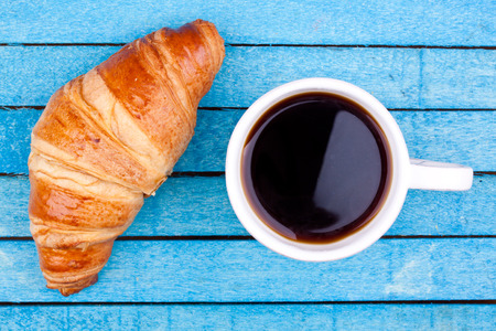 croissant: croissant and coffee