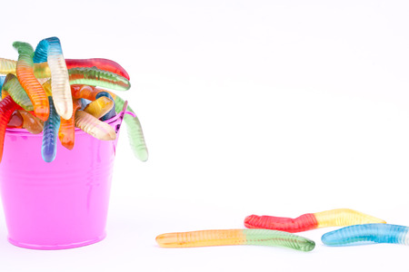 gummy jelly worm candies Stock Photo