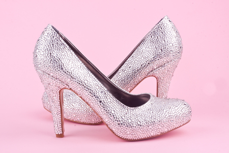 shiny high heel shoes 版權商用圖片