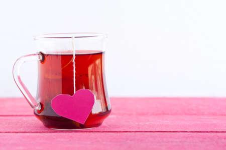 tea bag: black tea with heart shaped tea bag