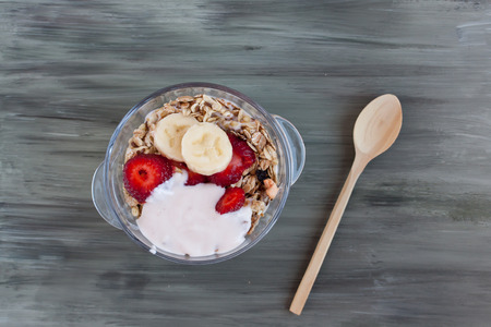 muesli: muesli with fresh fruits