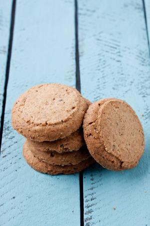 heathy: whole grain cookies Stock Photo