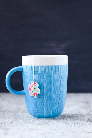 teabag: mug with flower shape teabag