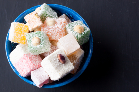 delight: turkish delight Stock Photo
