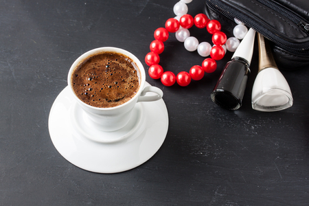 turkish coffee: Turkish coffee with masculine style