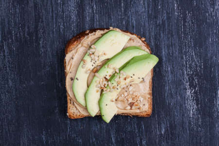 sanwich: sanwich with avocado and peanut butter