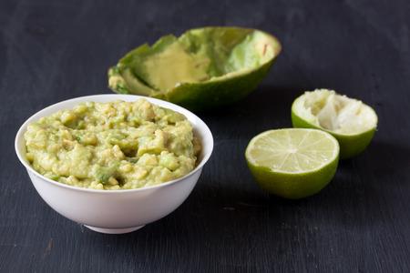 Guacamole, Avocado dip sauce Stock Photo