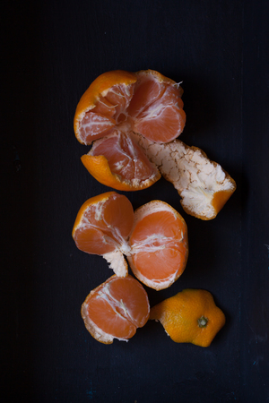 clementines: fruits tangerine, mandarin or mandere the fruits still life with style Stock Photo