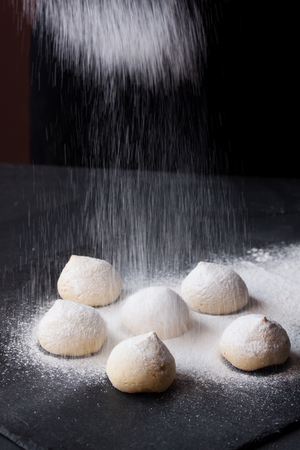 cookies with powdered sugar Stock Photo