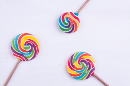 lollipops on a white background