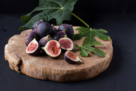 Figs on a black background