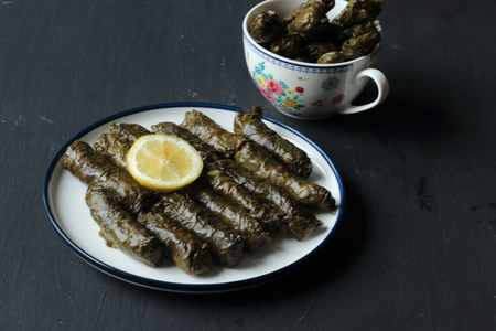 stuffed grape leaves with rice, stuffed, wrapped