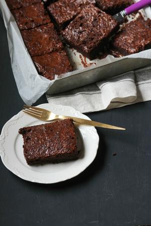 Brownie cake 版權商用圖片