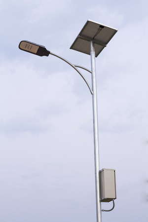 Solarcell street lamp and sky photo