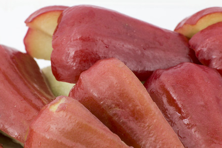 Sliced Rose apples or chomphu in the box photo