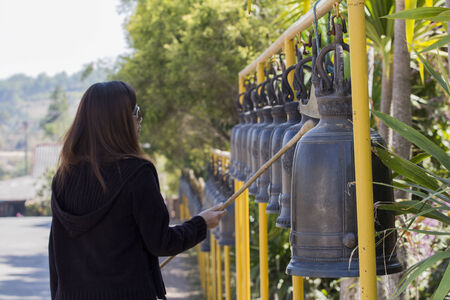 Bells in Buddhism temple, Phetchaboon Thailand photo